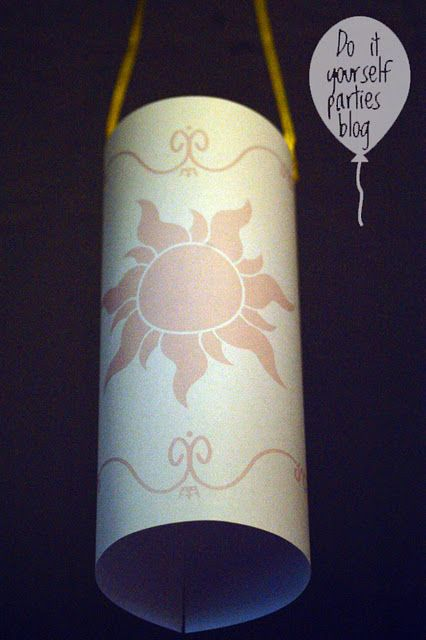 "Printable ""Tangled"" lantern and LOTS of other ""Tangled"" party ideas"
