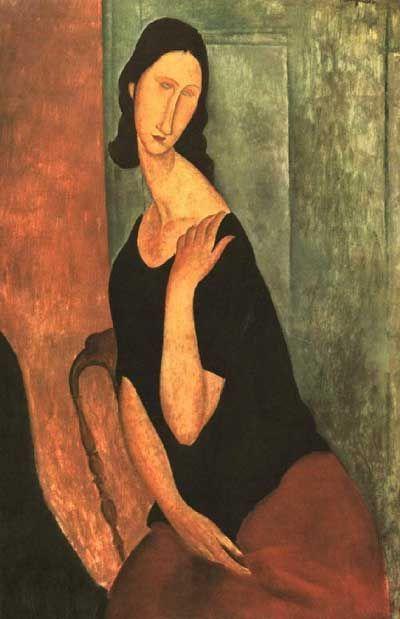Amedeo Modigliani - Jeanne Hebuterne                              …