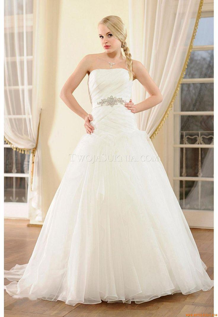 senza spalline crystal dettagliare abiti da sposa Altara Dea Antonia 2014