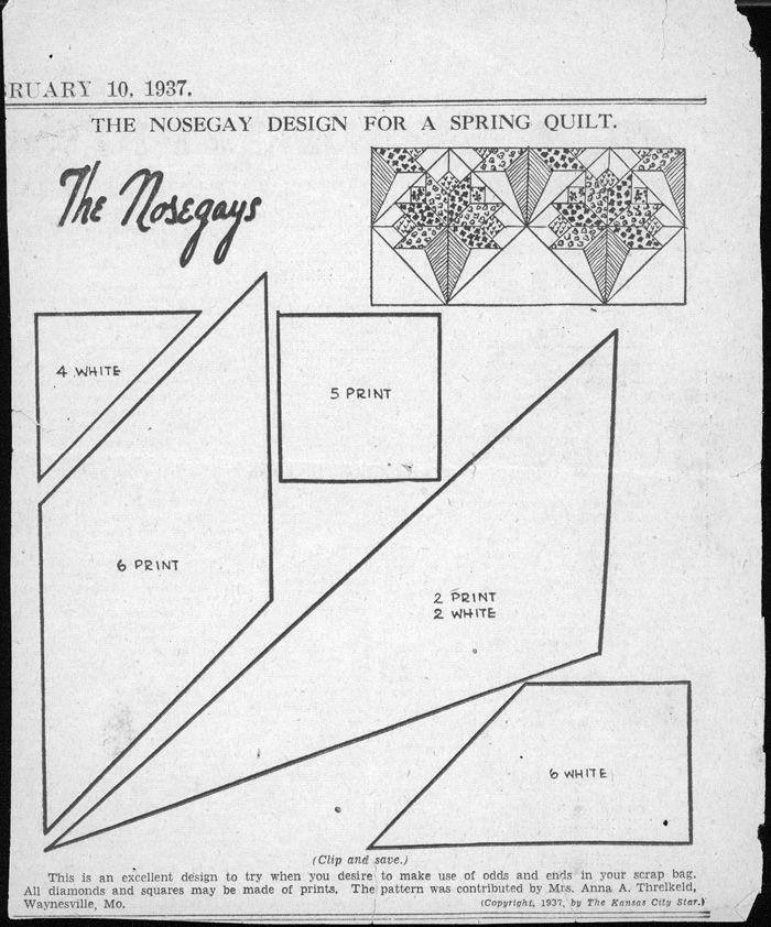 Kansas City Star, The Nosegays 1937