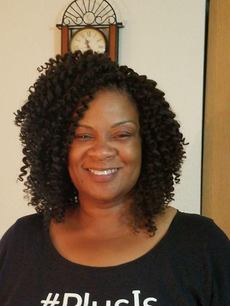I did my God mom's hair. Crochet braids Model Model