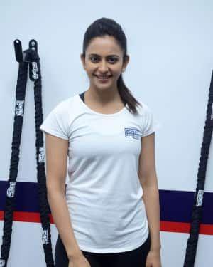 Saina Nehwal Launches Rakul Preet Singh F45 Gym at Kokapet Photos