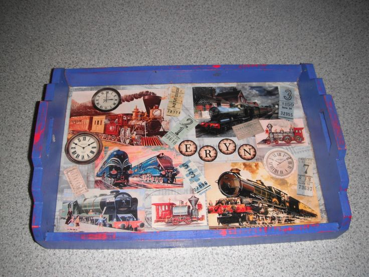 Another decoupage tray