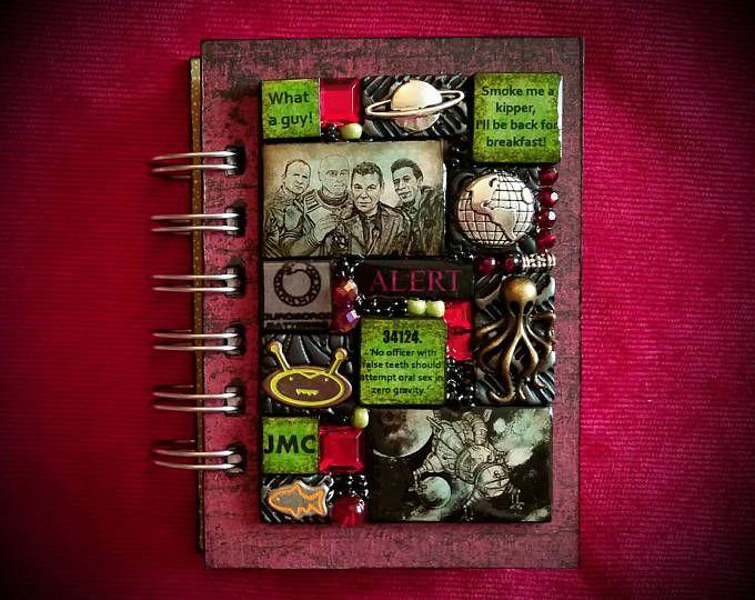 Red Dwarf A7 journal - Mosaic. Dave Lister. Arnold Rimmer. Cat. Kryten. Craig Charles. Chris Barrie. Danny John-Jules. Robert Llewellyn