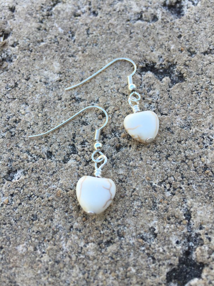 Magnesite heart earrings. $5.95 via http://www.divineaura.com.au/product/magnesite-heart-silver-tone-earrings-2/   or find me on facebook @ www.facebook.com/divineaura123