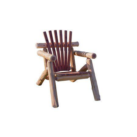 Furniture Barn USA™ Red Cedar Log Adirondack Chair #logfurniture