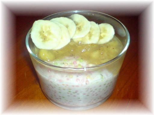 Bananes au lait de coco et perles de tapioca - Recette de cuisine Marmiton : une recette