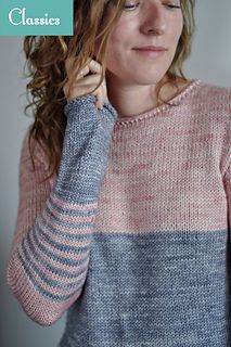 Opera pullover sweater knitting pattern by Elise Dupont