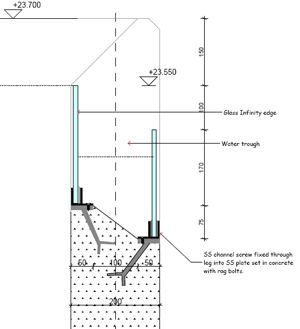 Swimming pool construction details infinity edge pool for Pool design details