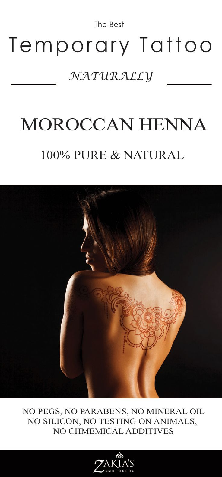 The very best natural Henna and temporary too!  You will love it for special occasions or just to have some fun.  Check it out at www.zakiasmorocco.com