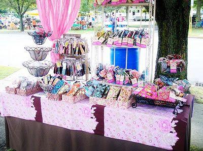 craft fair booth love the baskets