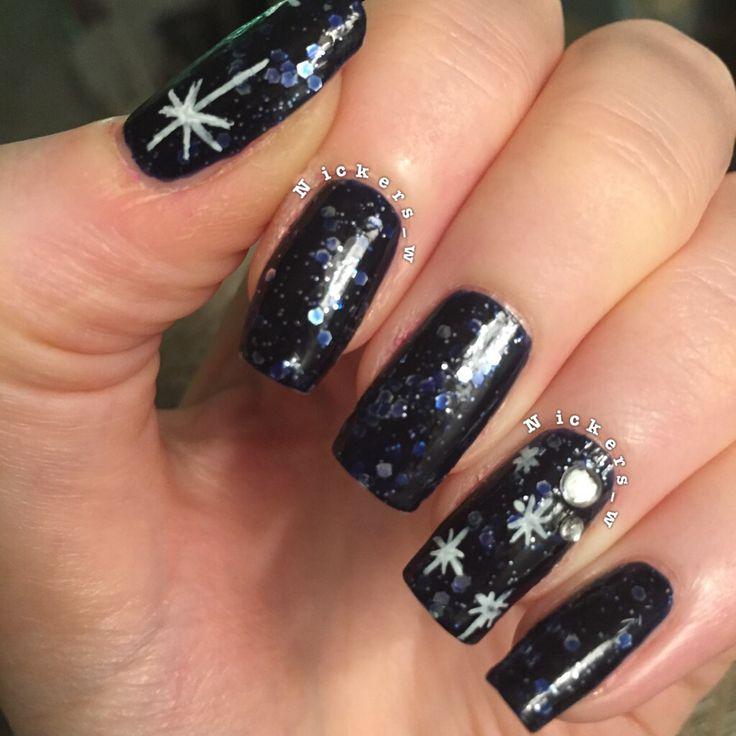 Easy Galaxy nails