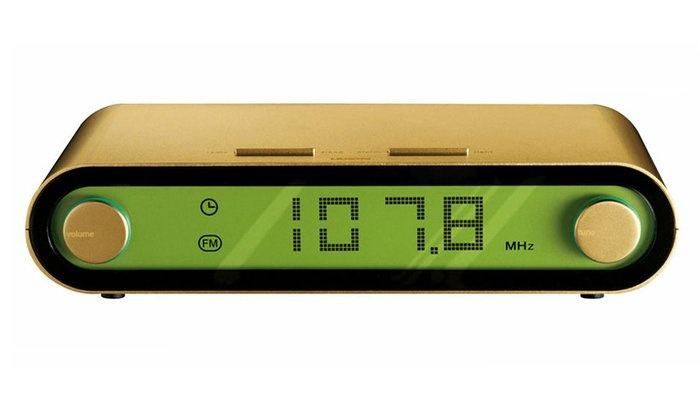 jet gold radio clock