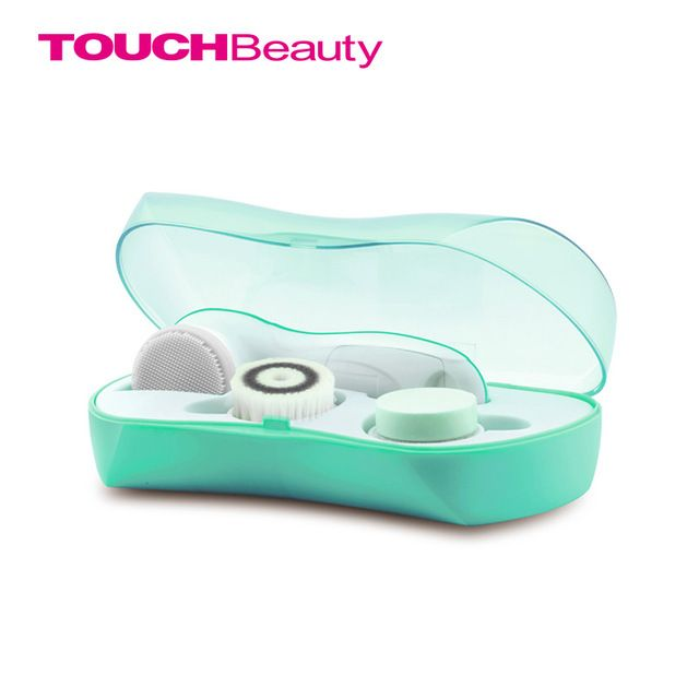 Touchbeauty escova rosto limpador conjunto de limpeza 3in1 silício escovas esfrega esfoliante Facial de Oilcontrol Limpiador TB-0759A