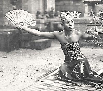 Bali 1920 Kebyar duduk dancer