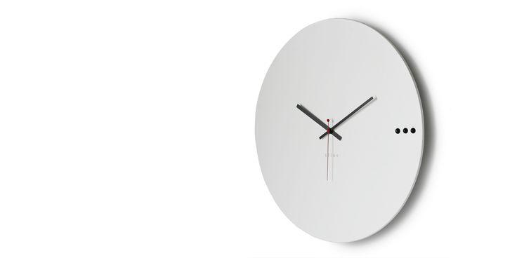 Ρολόγια τοίχου μοντέρνα.Wall clock design tre white 95€ | xline