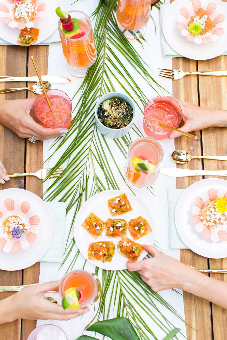 Tropical bridal shower inspiration + cocktail recipes