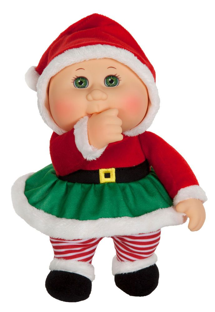 Cabbage Patch Kids Cuties Doll 9 Holiday Helpers Collection Eve Claus Cabbagepatchkids Dolls Cabbage Patch Babies Cabbage Patch Dolls Patch Kids