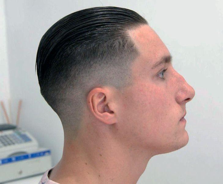 Medium hair men comb back