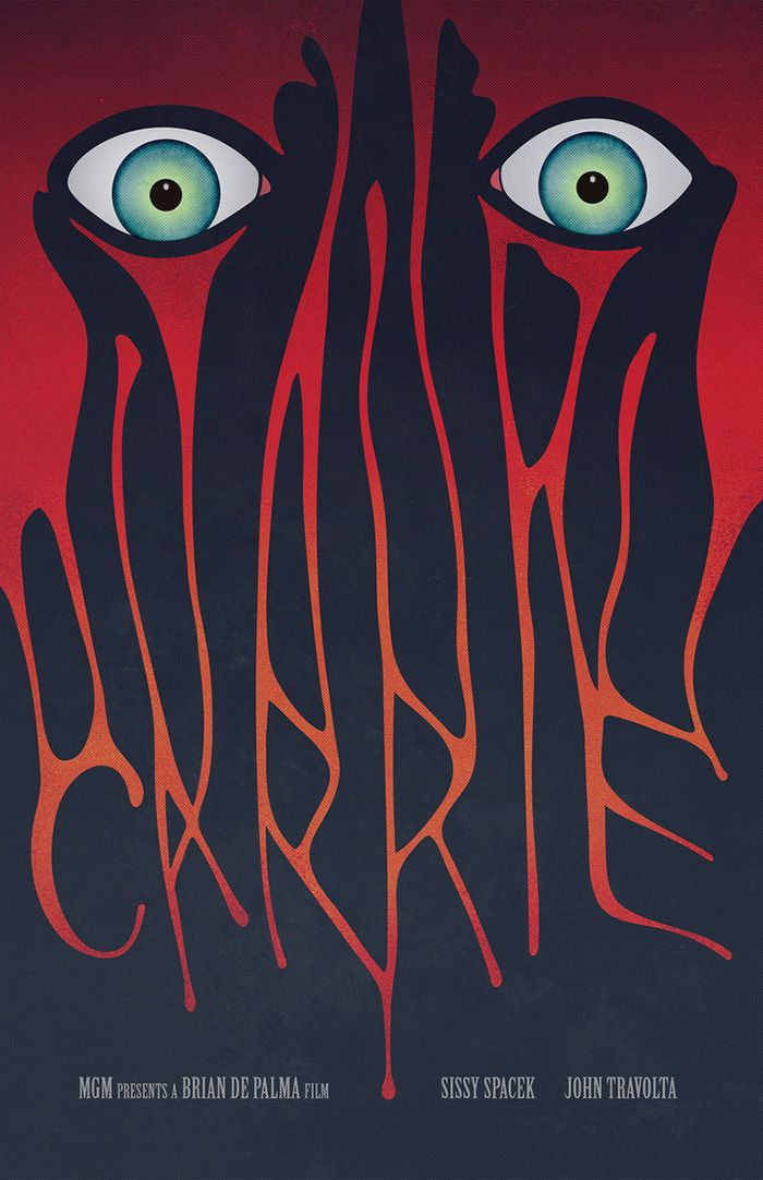 """Carrie alternative movie poster by Gary Irwin """"Carrie White, a shy and outcast…"""