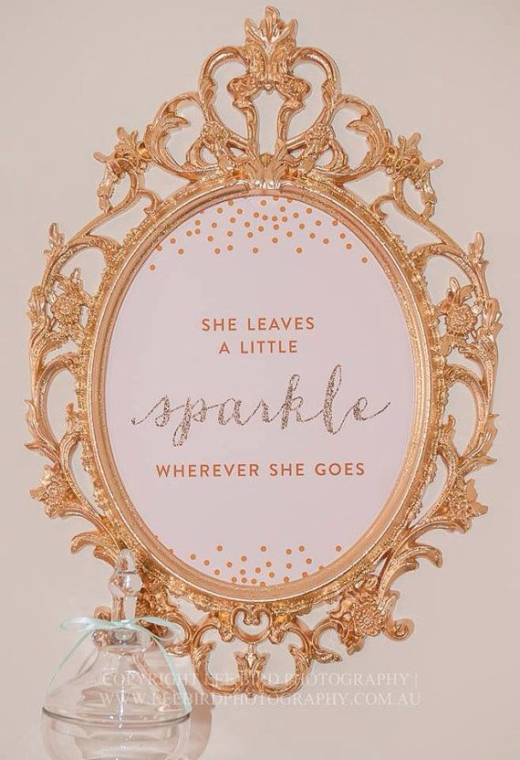 "Pink, Gold and Glitter ""She Leaves a Little Sparkle"" Nursery Artwork - 8x10 INSTANT DOWNLOAD on Etsy, $8.00"