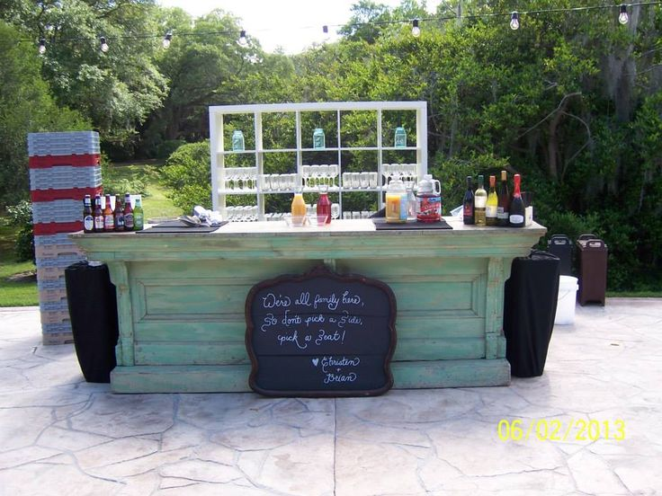 country bar supplied by Ohh events