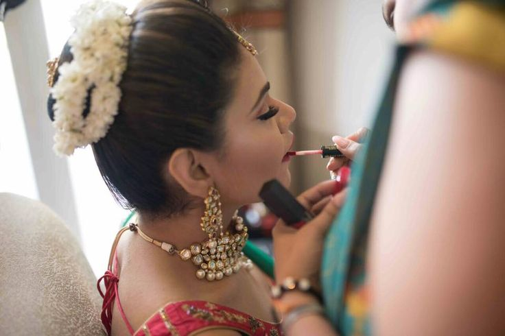 Makeup - Red Lips - Beautiful Bride - Weddings - Indian Wedding - Makeup artist     FunctionMania.com is your Function Planning Resource, FunctionMania features Best vendors, True stories, ideas and inspiration | photographers, decorators, Make-up artists, venues, Designers etc