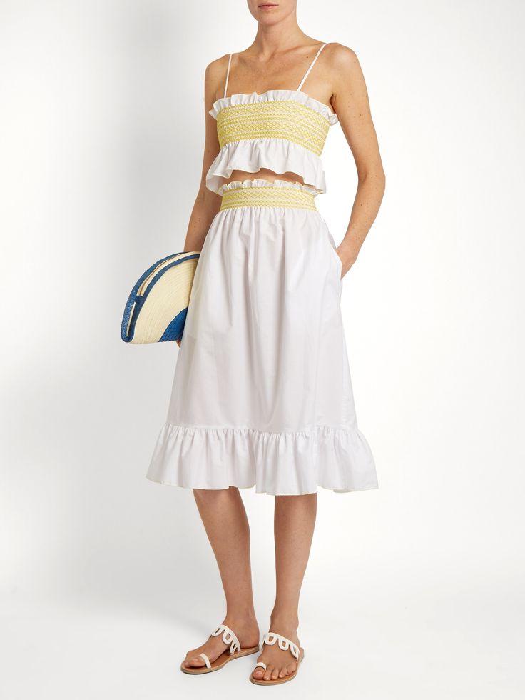Smocked cotton skirt | Lisa Marie Fernandez | MATCHESFASHION.COM US