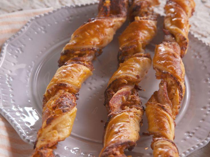 Lorraine's Bacon-Cheddar Straws recipe from Farmhouse Rules via Food Network