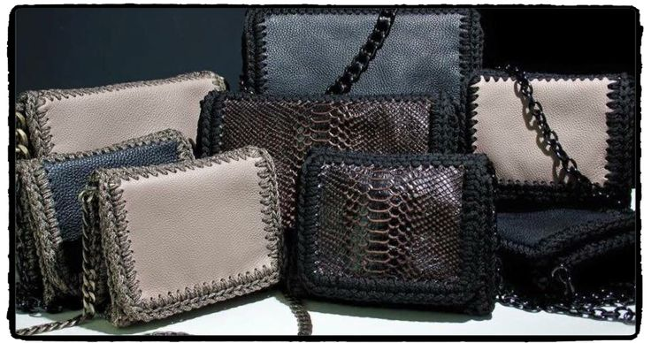 The new #winter 2015 elegant leather crochet bag collection by One & Only!! We love them all!! Tip: Life is too short to wear boring bags  Join a world of #uniquness #aesthetics & #style #braccialetticoncepts #oneandonly #bags #handmade #leather #crochet #fashion