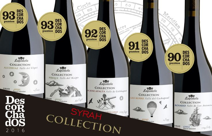 All our Syrah Collection obtained up to 90 points in Descorchados 2016!