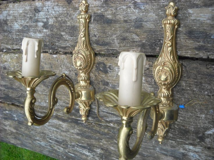 Superb Sconces Vintage French Bronze Classical Style Wall Light Fittings Set of Two Gorgeous Ormolu Style Chateau Chic Lights by AntiqueFrenchVintage on Etsy