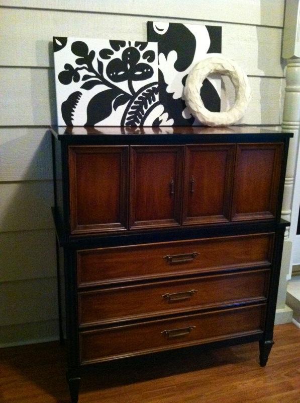 Good Mid Century Modern Dresser   Stained, Black Dresser, Vintage, Painted  Furniture.