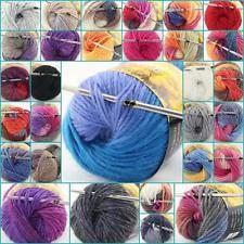 Лот из 1 мотка x 50g новый коренастый соткан вручную цветами вязание баллы шерстяная пряжа в