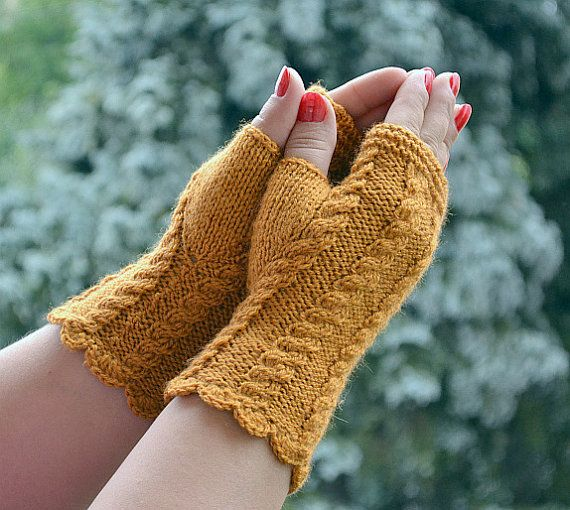 Mustard mittens Mittens & Muffs fingerless gloves Gloves