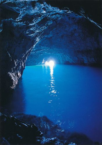 Blue Grotto, Capri, Italy is unbelievably beautiful!!! Not easy to get to, but well worth it.