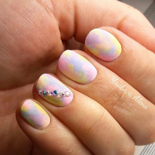 Nails. Fashion. Nail Desighn. Matte. Swarowski. Ombre. Гель-лак. Натуральные ногти. Матовые ногти. Омбре. Сваровски