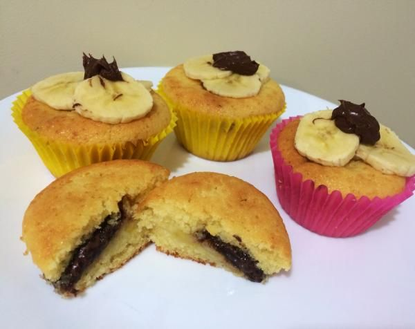 Cupcakes rellenos de nutella