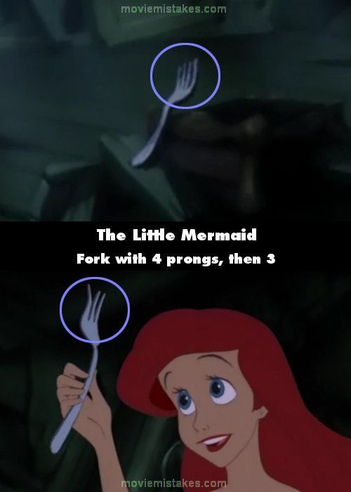 The Little Mermaid movie mistake picture
