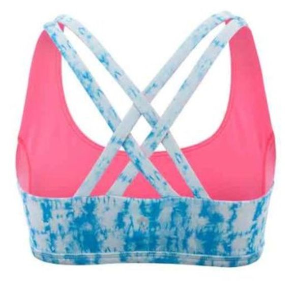 kids Lululemon (ivivva) sports bra Cute ivivva sports bra size 6. It is reversible from a blue design to pink! Very comfy and in perfect condition!! Lululemon kids brand lululemon athletica Intimates & Sleepwear Bras