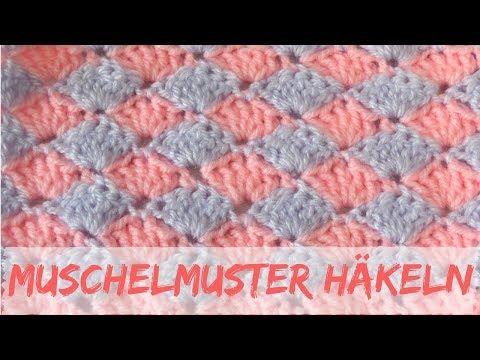 Einfaches Muschelmuster häkeln   Häkelmuster #10 - YouTube ...