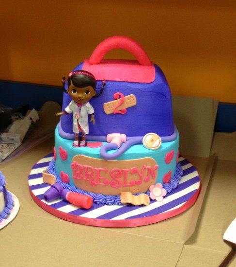 Doc McStuffins Cake by itsapieceofcakewv.com