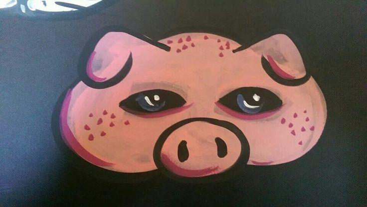 Face paint pig mask :)