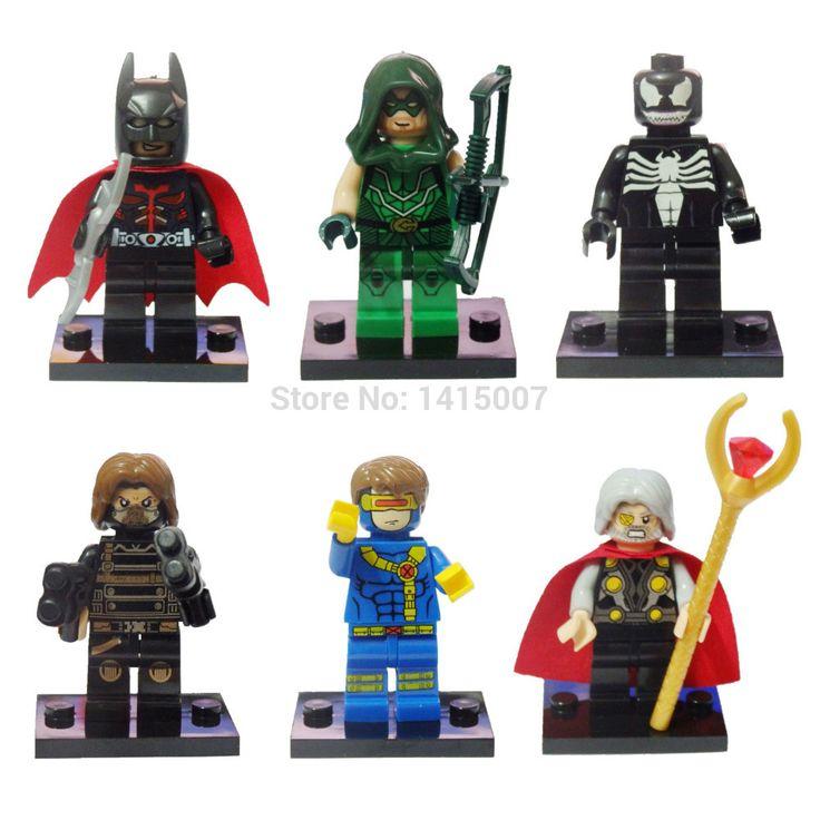 Decool 0134-0139super герои мстители строительные блоки игрушки зимний солдат , которые абердин яд лазерной один зеленая стрела человек