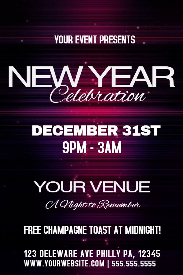 Best New Year Flyer Templates Images On   Flyer