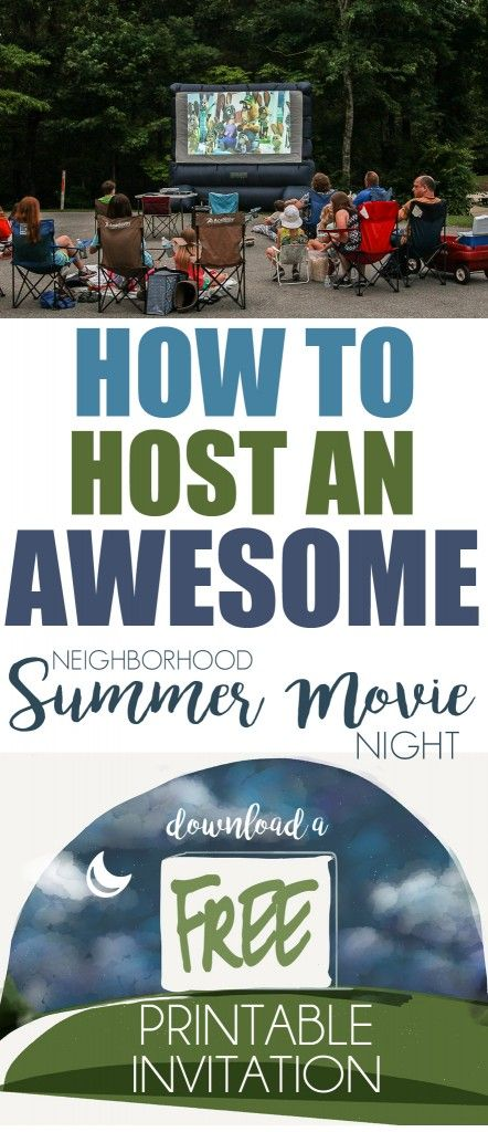 invitations outdoor movie nights and printable invitations on