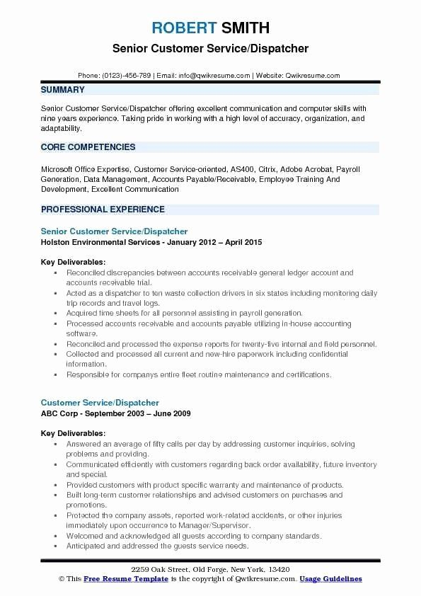 Dispatcher Job Description Resume Best Of Dispatcher Job Description Resume Unique Customer Service Job Description Job Interview Tips Job