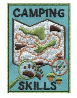Teach your Girl Scouts about necessary camping skills such as using a compass, reading a map, poisonous plants and animal tracks. this camping skills patch from MakingFriends.com will be the perfect addition to their patch collection.