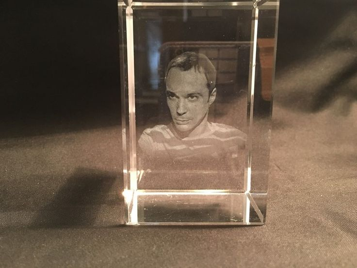 Sheldon Cooper (Big Bang Theory) 3D Face in Glass Paperweight / Display  in Movies, Television Memorabilia, Other | eBay!