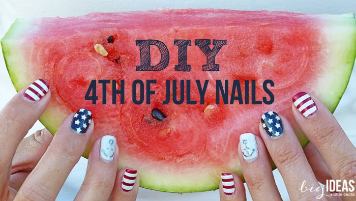 DIY 4th of July nails made simple with vinyl stencils. Use your Silhouette to cut the files.